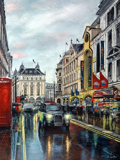 The West End Melody by Ziv Cooper - Original Painting on Box Canvas